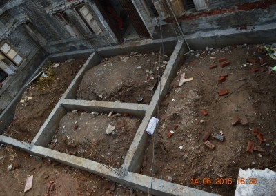 Ground beams for extention of room-1