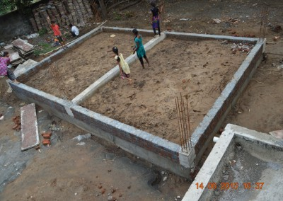 Ground beams & plinth for kitchen