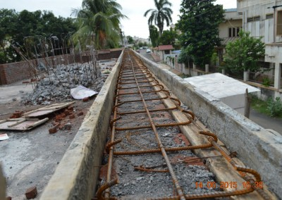 form work & reinforcement for coping over perapet wall-1