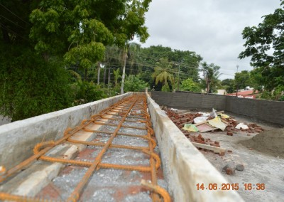 form work & reinforcement for coping over perapet wall-2