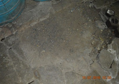 Damaged floor of storeroom-4
