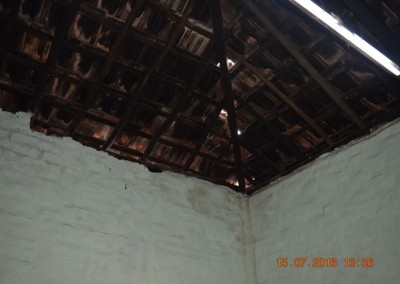 Damaged roof of store room-2