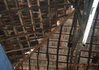 Damaged roof of store room-4