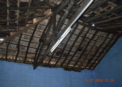 Damaged roof of store room-5