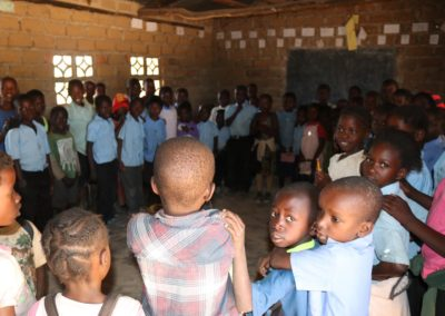 washa classroom with children group